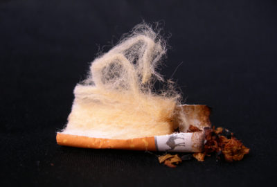 Zigarettenfilter aus Zelluloseacetat | cigarette filter made of cellulose acetate