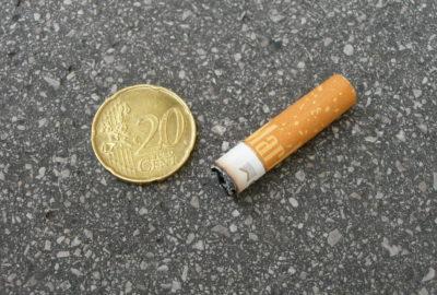 Zigarettenpfand - 20 Cent pro Kippe | Cigarette deposit – 20 cents per butt