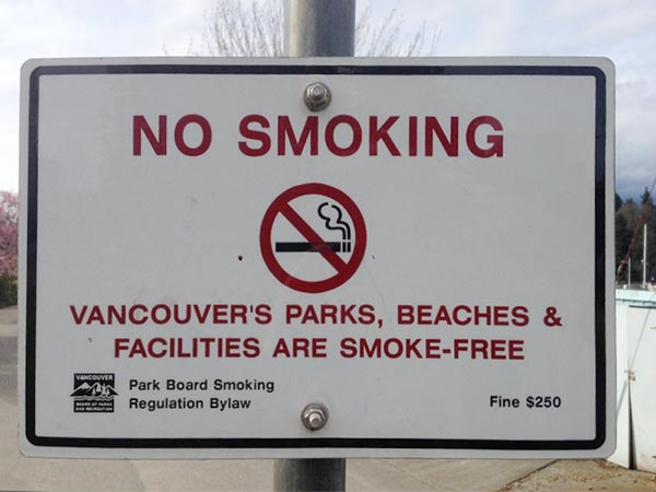 No-smoking-Schild in Vancouver
